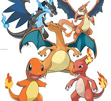 charizard family by termes5