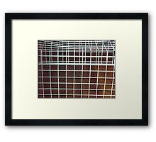 White Cage Framed Print