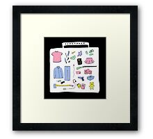 SLEEPOVER Framed Print