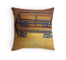 Black Candle Holder Throw Pillow