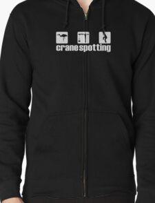 Crane Spotting (Trainspotting Spoof) Zipped Hoodie