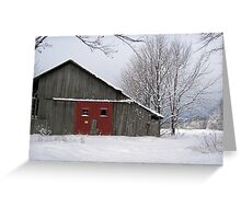 Rustic Red Greeting Card