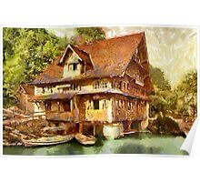 Treib, Chalet on Lake Lucerne, Switzerland - all products Poster