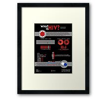 What Is HIV? Infographic Framed Print