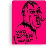 Mad Zombie Lawyer Canvas Print