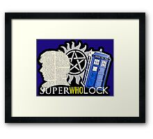 SuperWhoLock - Crossover MegaVerse Framed Print