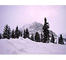 Evening glow at Bow Lake, Alberta, Canada Photographic Print
