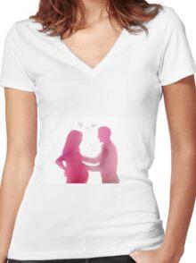 New Family Women's Fitted V-Neck T-Shirt