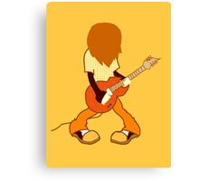 Guitar Player Rocking Out Canvas Print
