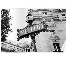 Paris Metro Sign Poster