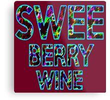 SWEE BERRY WINE Dr. Steve Brule Design by SmashBam Metal Print