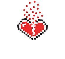 8 Bit Heart Break Photographic Print