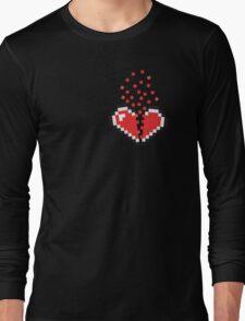 8 Bit Heart Break Long Sleeve T-Shirt