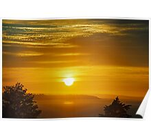 Sunset Over Puget Sound Poster
