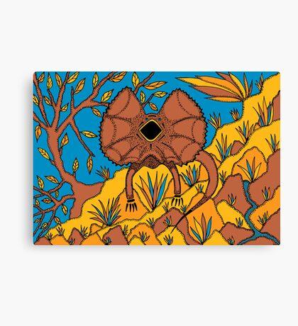 Goolaman - (frilled lizard) irralb season (autumn) Canvas Print