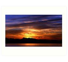 Olympic Sunset Nine Art Print