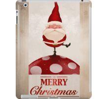 Santa Claus on fungus greeting card iPad Case/Skin