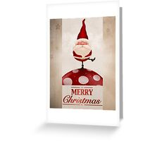 Santa Claus on fungus greeting card Greeting Card