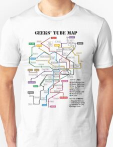 Geeks' Tube Map T-Shirt
