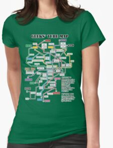 Geeks' Tube Map Womens Fitted T-Shirt