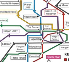 Geeks' Tube Map Sticker
