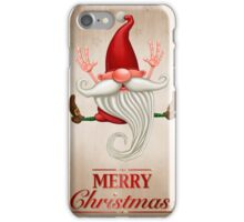 Happy Christmas elf Greeting card iPhone Case/Skin