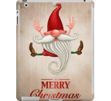 Happy Christmas elf Greeting card iPad Case/Skin