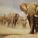 The water hole (Original Sold) by eric shepherd