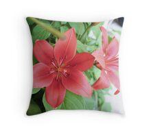 Summer's Flower's  Throw Pillow