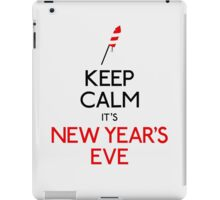 Keep calm it's new year's eve iPad Case/Skin