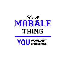 It's a MORALE thing, you wouldn't understand !! by thestarmaker