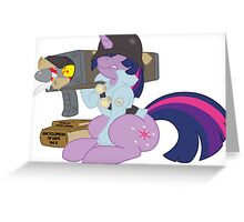 Twilight Soldier Greeting Card