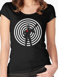 rock-it-boy! : negative space remix Women's Fitted Scoop T-Shirt