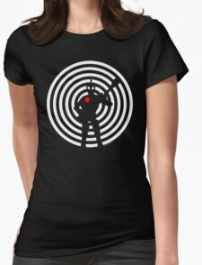 rock-it-boy! : negative space remix Womens Fitted T-Shirt