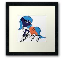 Portal pony Framed Print