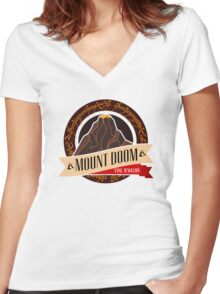 Mt. Doom Fine Jewelry Women's Fitted V-Neck T-Shirt