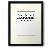 Jackobs Logo Framed Print