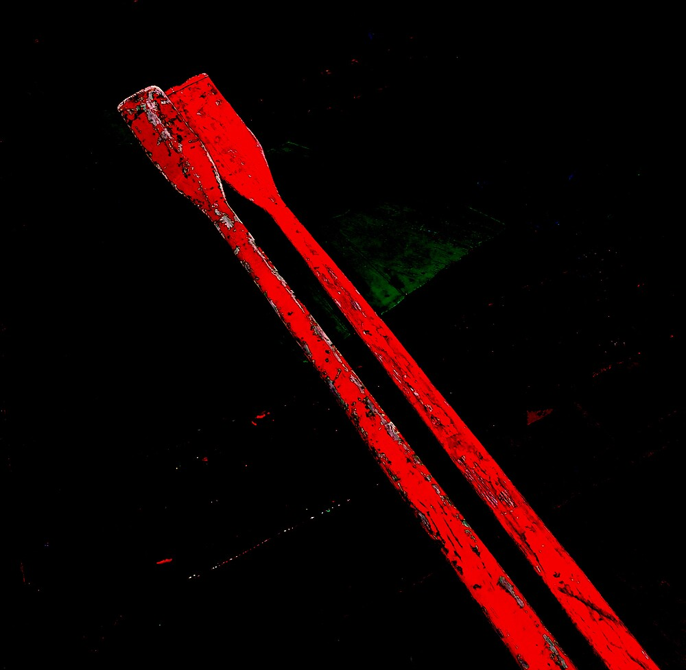 a pair of red oars by ragman