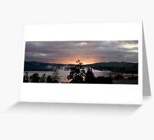 Sunrise in Rotorua Greeting Card