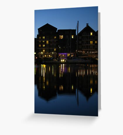 Night time at the Salthouse Hotel, Ipswich Greeting Card