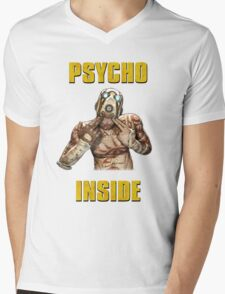 Psycho Inside Mens V-Neck T-Shirt