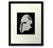 Inquisition Distressed Helm Framed Print