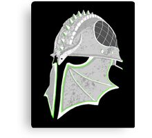 Inquisition Distressed Helm Canvas Print