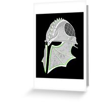 Inquisition Distressed Helm Greeting Card
