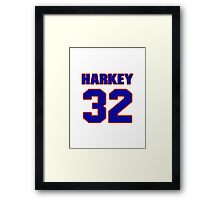 National football player Lem Harkey jersey 32 Framed Print