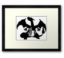 Charizard Evolution Framed Print