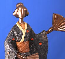 Geisha Figurine 6 by Paul Reay