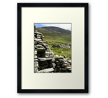 Famine House, Slievemore, Achill Island Framed Print