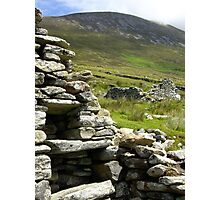 Famine House, Slievemore, Achill Island Photographic Print