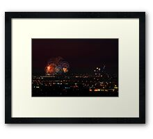 Australia Day Fireworks Over Perth Framed Print